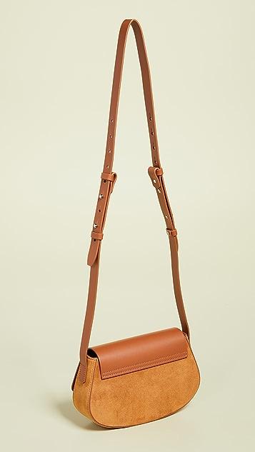 Nico Giani Suede Lobivia Mini Crossbody Bag