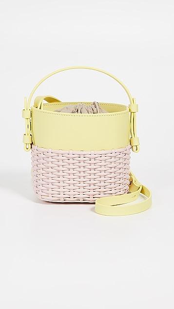Nico Giani Mini Adenia Bucket Bag - Lemon/Pale Pink