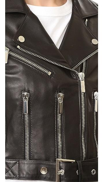 Nour Hammour Avalon Cropped Motorcycle Jacket