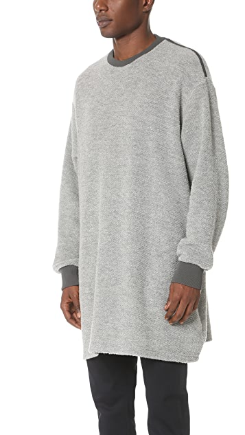 N.Hoolywood Long Boucle Knit Tunic