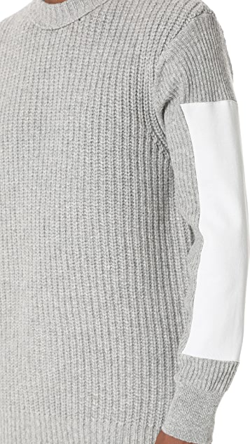 N.Hoolywood Sleeve Insert Knit Sweater