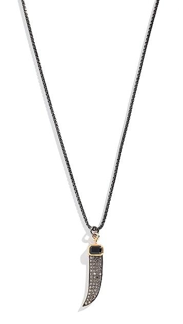 Nickho Rey Onyx Claw Necklace