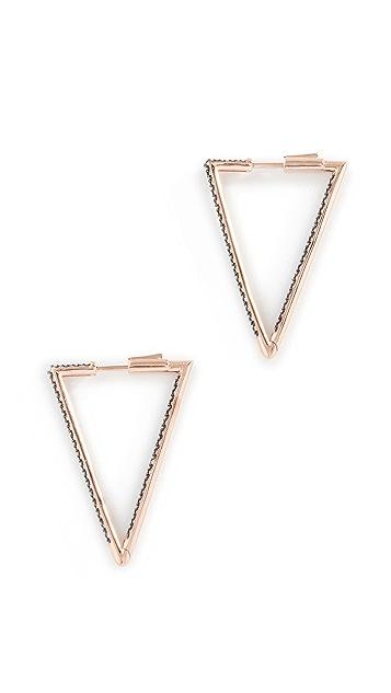 Nickho Rey Bermuda Triangle Hoop Earrings