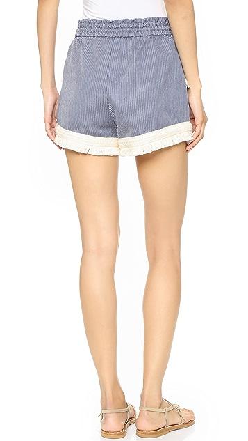 Nicholas N/Nicholas Braid Hem Shorts