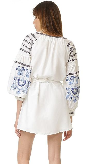 Nicholas Платье с вышивкой N / Nicholas