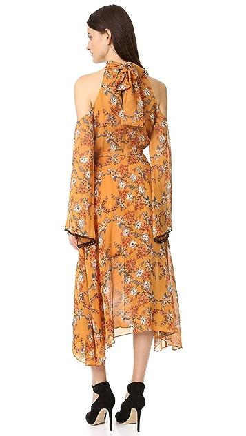 Nicholas Neck Wrap Front Dress