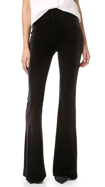 Nicholas Velvet Flare Pants