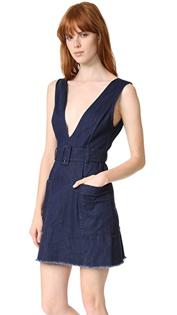 Nicholas N/Nicholas Pinafore Buckle Dress