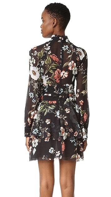 Nicholas Vintage Floral Mini Dress