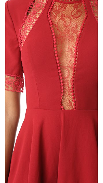 Nicholas Crepe Short Sleeve Mini Dress
