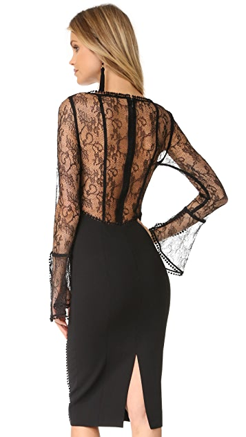 Nicholas French Lace Cocktail Dress