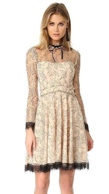 Nicholas French Lace Mini Swing Dress