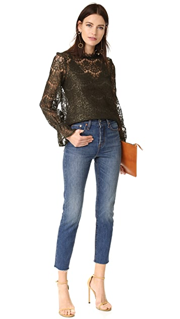Nicholas Arch Lace Long Sleeve Top