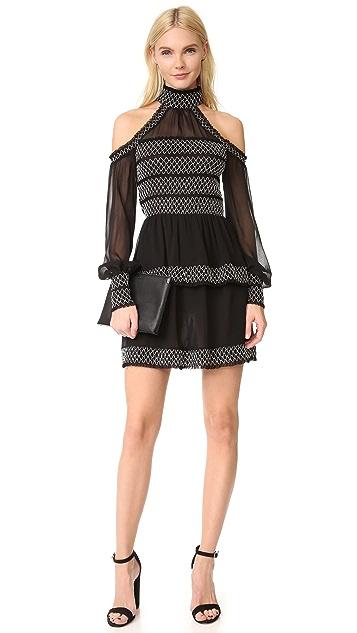 Nicholas Cold Shoulder Smock Dress