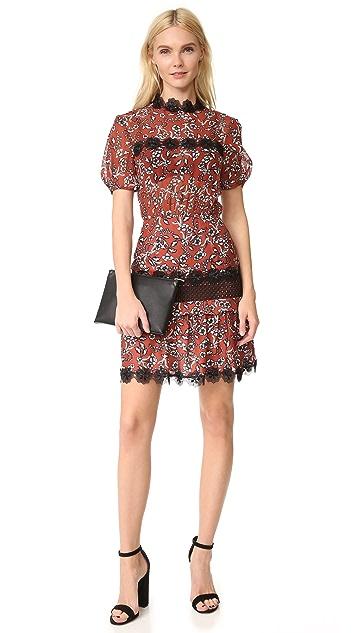 Nicholas N/Nicholas Sicilian Floral Tuck Dress