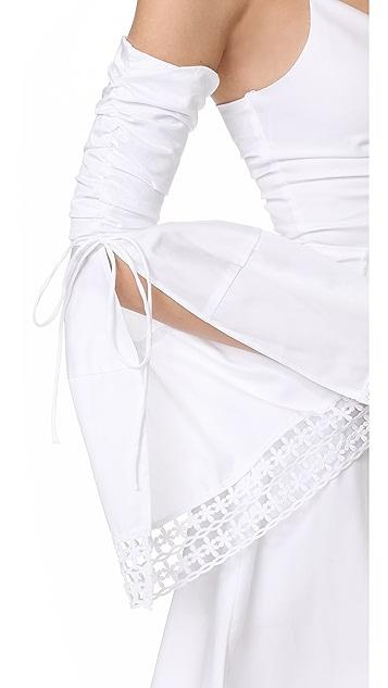 Nicholas N/Nicholas Gathered Bell Sleeve Dress
