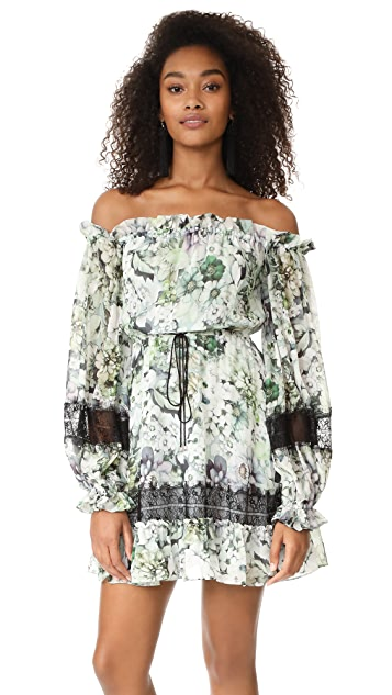 Nicholas Evergreen Off Shoulder Mini Dress