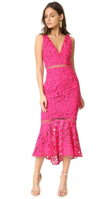 Nicholas Lace Plunge Dress
