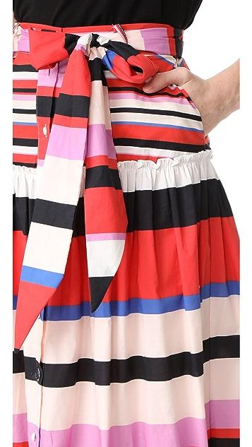 Nicholas N/Nicholas Amalfi Stripe Midi Skirt