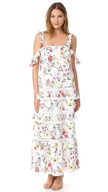 Nicholas N/Nicholas Daffodil Broderie Tiered Maxi Dress