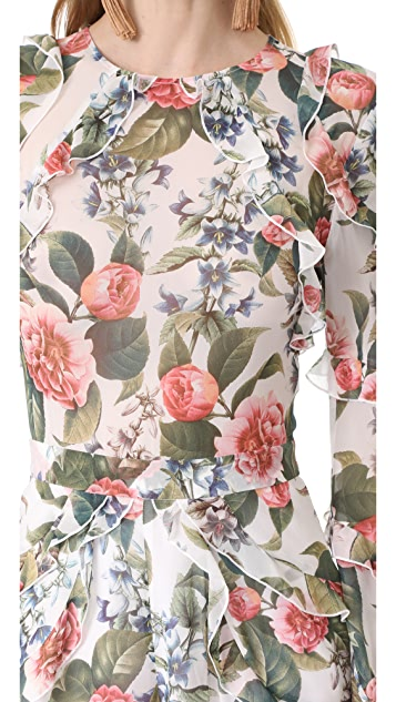 Nicholas Belle Floral Ruffle Romper