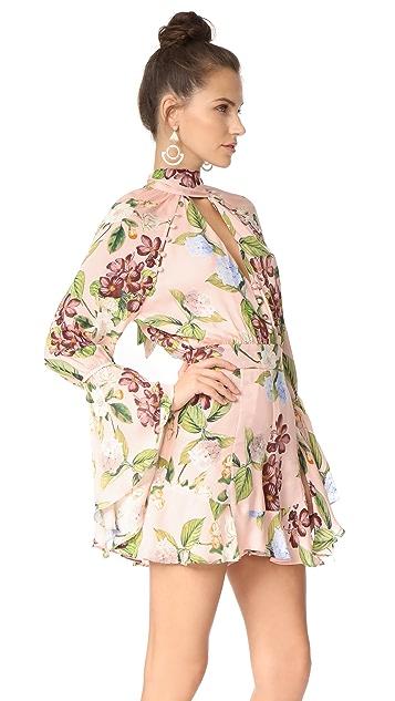 Nicholas Evie Floral Bell Sleeve Romper