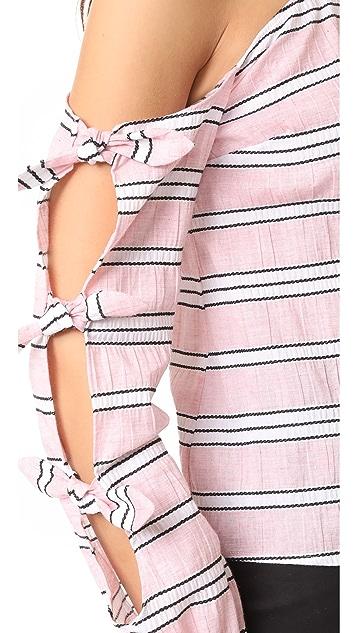 Nicholas N/Nicholas Clara Stripe Knot Top