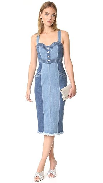 Nicholas N/Nicholas Denim Pinafore Dress