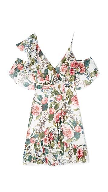 Nicholas Belle Floral Wrap Mini Dress