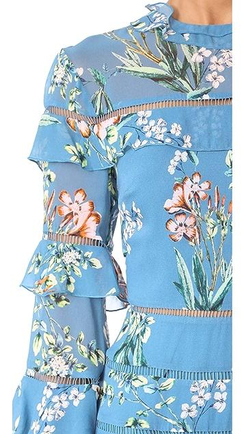 Nicholas Delphine Ruffle Insert Mini Dress