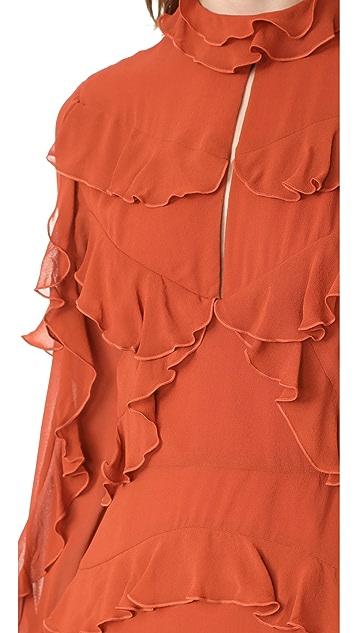Nicholas Ruffle Layered Mini Dress