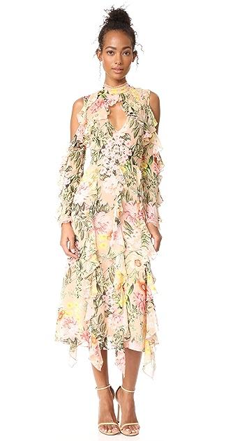 Nicholas Aveline Cold Shoulder Maxi Dress