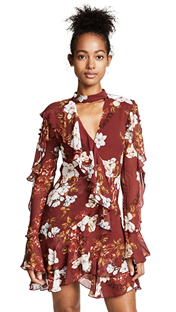 Nicholas Celeste Long Sleeve Wrap Mini Dress