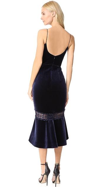 Nicholas Velvet Midi Dress