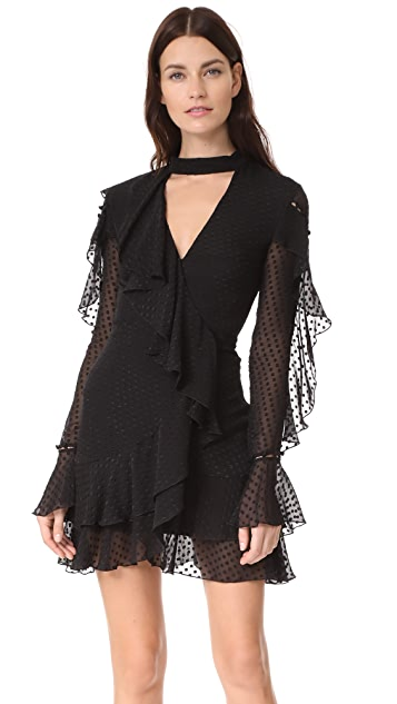 Nicholas Long Sleeve Wrap Mini Dress