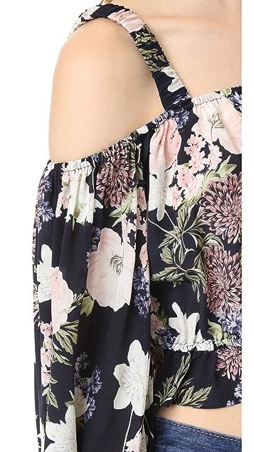 Nicholas N/Nicholas Thistle Floral Long Sleeve Rosie Top