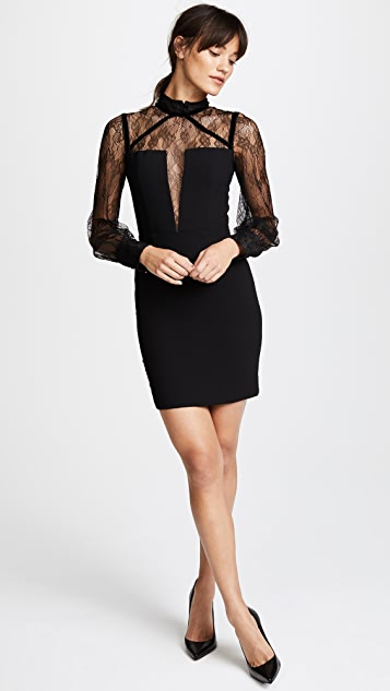Nicholas Lace Balloon Sleeve Mini Dress