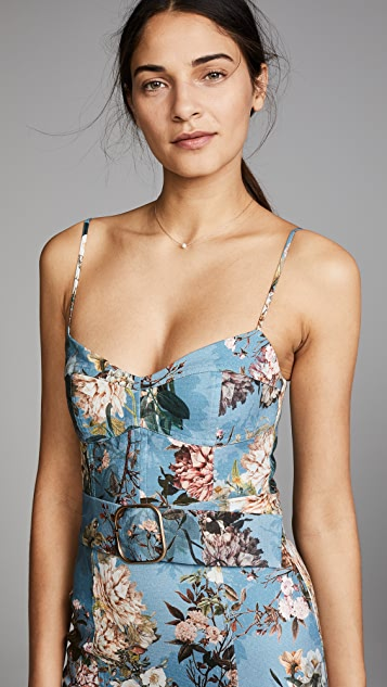 Nicholas Arielle Floral Frill Mini Dress