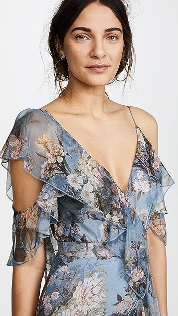 Nicholas Arielle Floral Wrap Maxi Dress