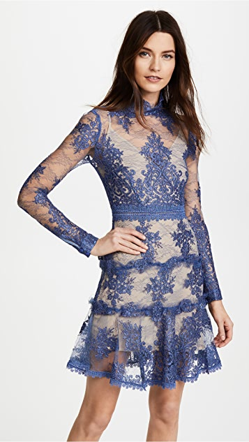 Nicholas Rosie Lace High Neck Mini Dress