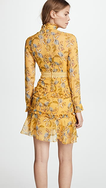 Nicholas Long Sleeve Mini Dress