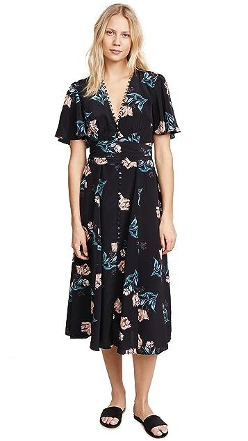 Nicholas Piper Floral Button Midi Dress