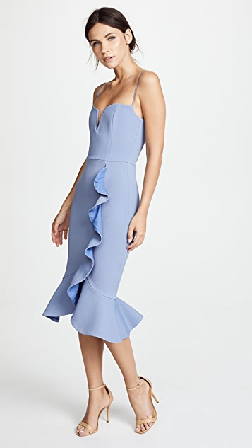 Nicholas Bandage Frill Wrap Dress