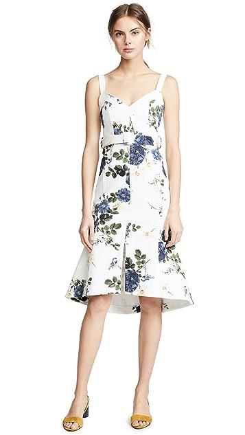 Nicholas Blue Rose Flare Midi Dress