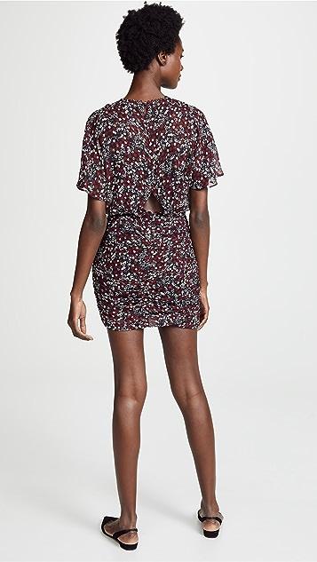 Nicholas Ruched Mini Dress