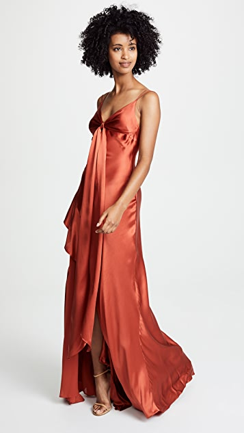 Nicholas Tie Front Maxi Dress