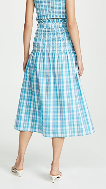 Nicholas Smocked Skirt