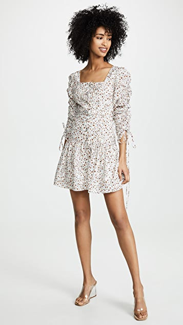 Nicholas Ruched Sleeve Button Front Dress