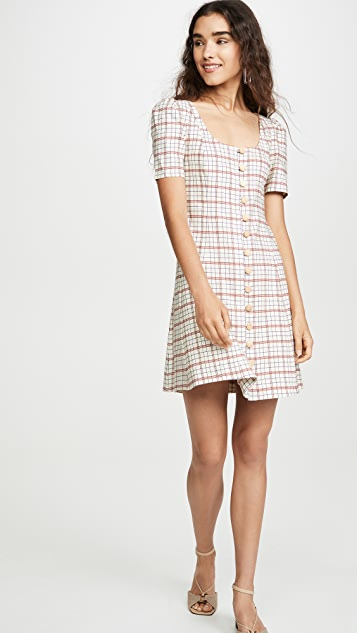 Nicholas Button Front Skater Dress