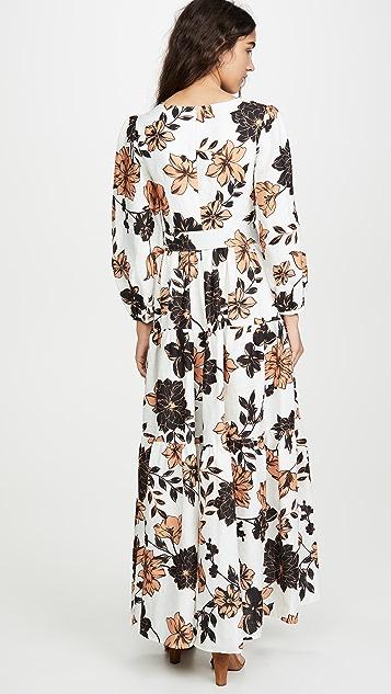 Nicholas Многоярусное льняное макси-платье